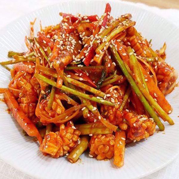 [YummyDiners] Seasoned squid & cucumber 오징어초무침