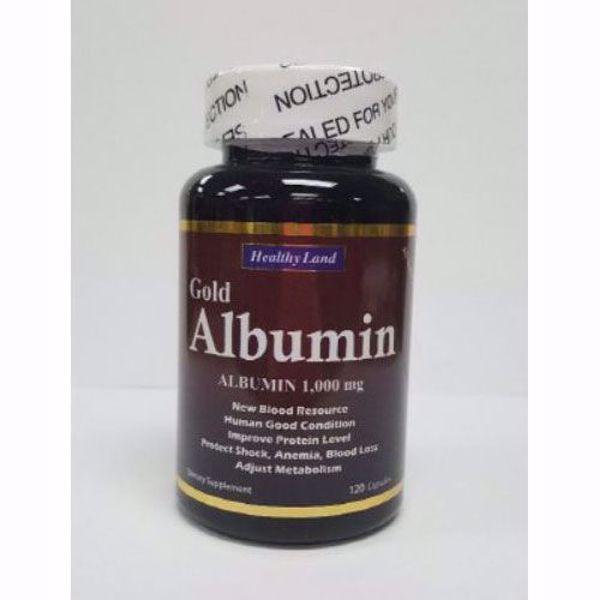 [HealthyLand] Albumin, 120caps, 노인성 노약형 치매, 영양부족형, 전두엽의 기능 저하